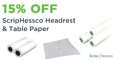 ScripHessco Head Rest Table Paper